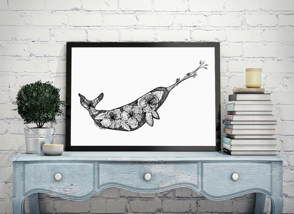 Floral Narwhal