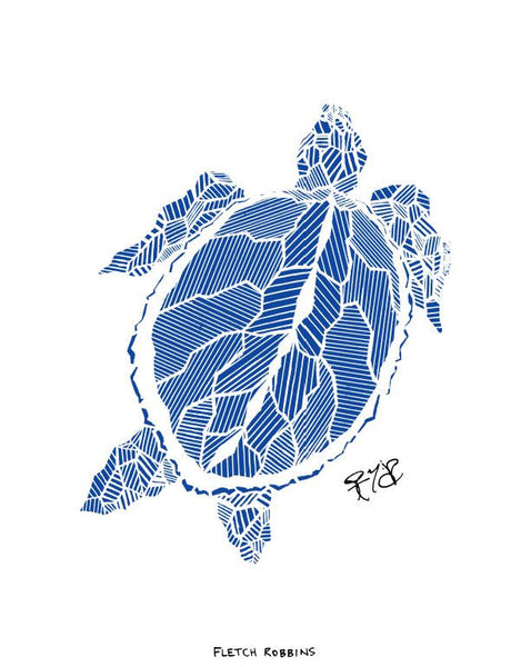Geometric sea turtle (3 colour options)