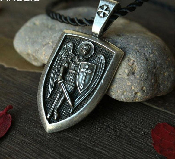 Archangel St. Michael Protection Shield Pendant