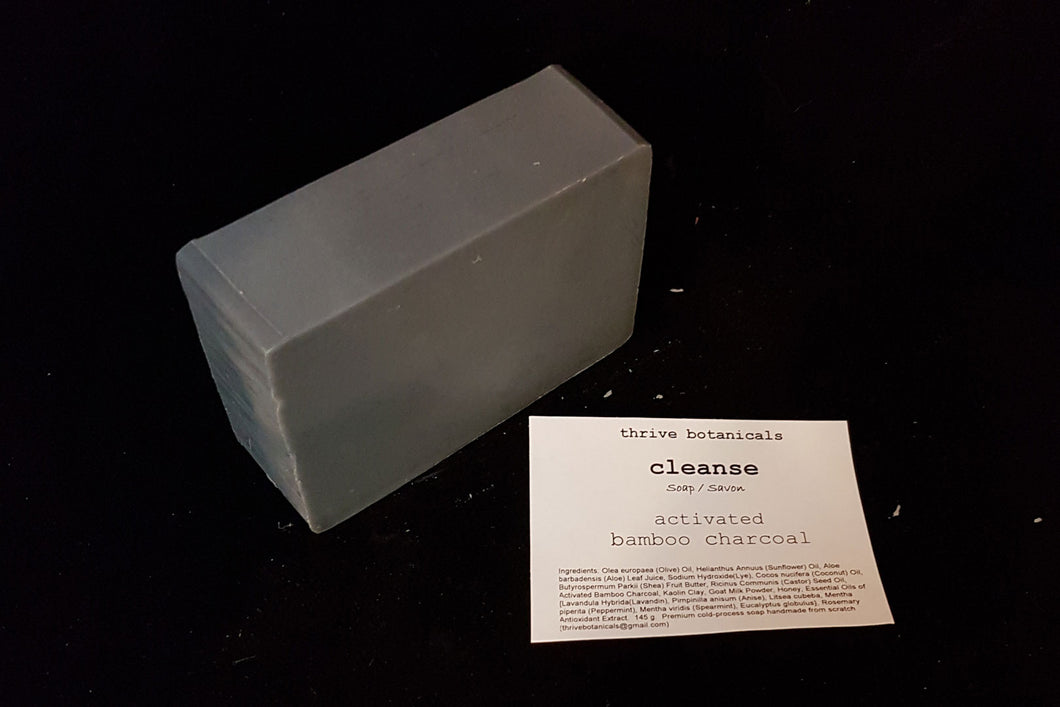 TVG - Thrive Botanicals Soap - Activated Bamboo Charcoal