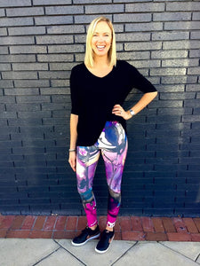 """Heather"" Wide Waistband Legging"