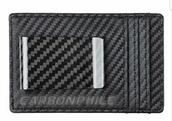 RFID Blocking Carbon Fiber Wallet with Money Clip