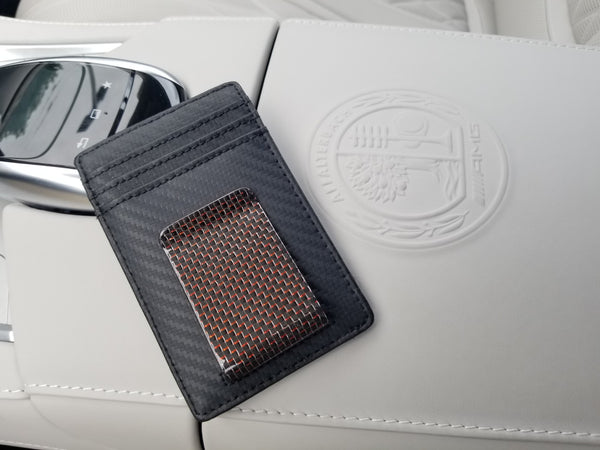 Red Real Carbon Fiber Money Clip + Wallet