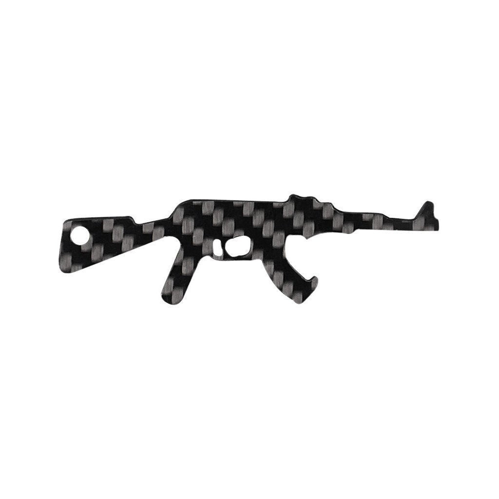 AK-47 Carbon Fiber Key Chain Bottle Opener
