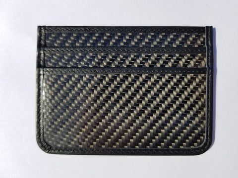 Carbon Fiber Slim Wallet - BLACK stitching