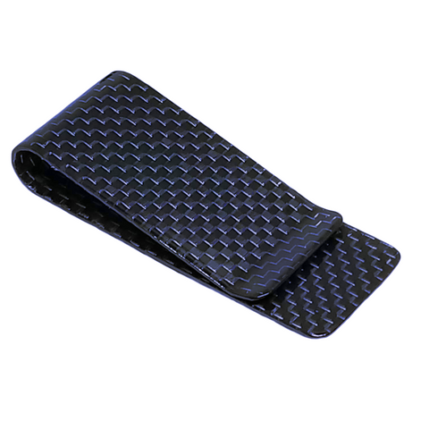 Blue 28 mm Carbon Fiber Money Clip