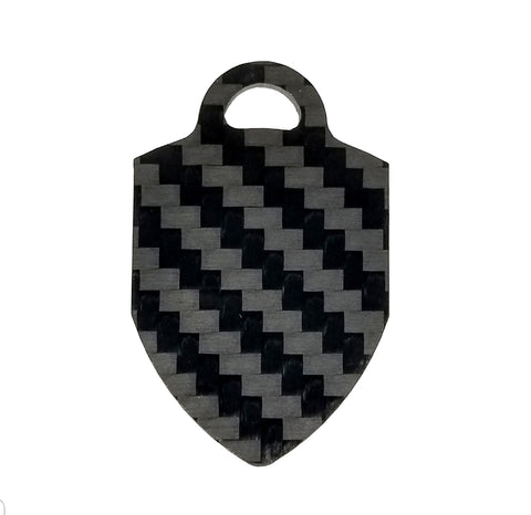 Shield / Crest - Pure Carbon Keychain