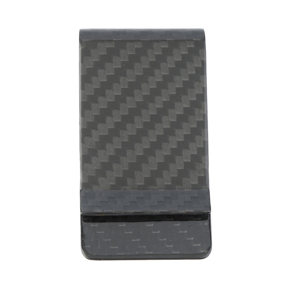Black 38 mm Carbon Fiber Money Clip - Matte