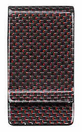Carbon Fiber Money Clip - Red Kevlar