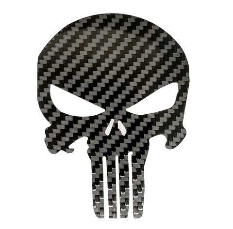 Patriot Skull Emblem - Pure Carbon