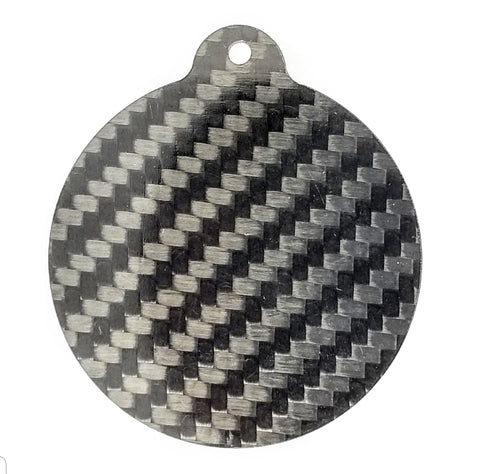 Circle - Pure Carbon Keychain