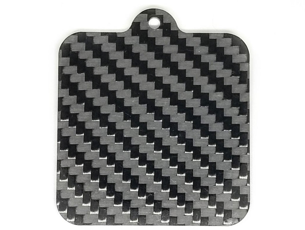 Square - Pure Carbon Keychain