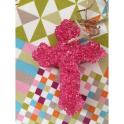 Strawberry Leather Air Freshener-Pink - Bar B Boutique