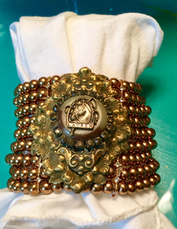 Jewelry: Ranch-Antique Button Bracelet