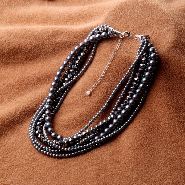 Jewelry: Coastal/Cottage-Modern Black Pearly Necklace