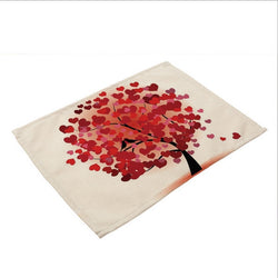 Valentine's Day Placemats!  A tree full of hearts leaving the message that it is the season for love!  Hurry, order soon before February 4th to insure delivery before February 14th!