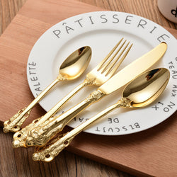 Flatware: Traditional Cottage Charm-Gold