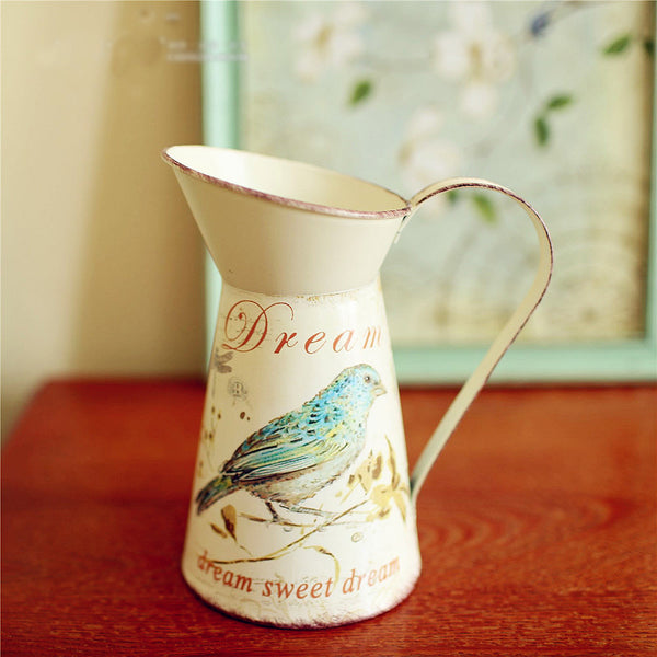 Vases: Tricia's Farmhouse Metal Pitcher