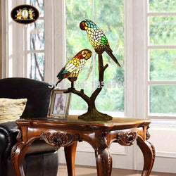 Lighting: Coastal/Cottage-Parrots Table Lamp