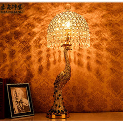 Lighting: Cottage-Peacock Table Lamp