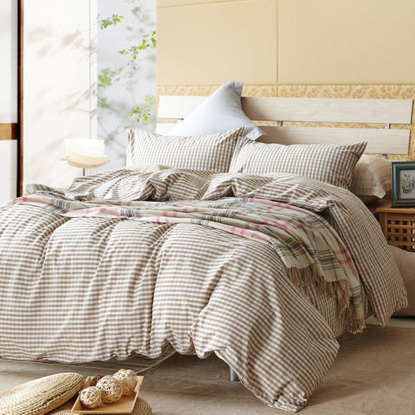 Bedding: Farmhouse-Traditional Plaid Duvet