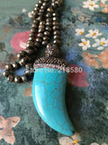 Jewelry: Ranch Style- Turquoise Horn Pendant
