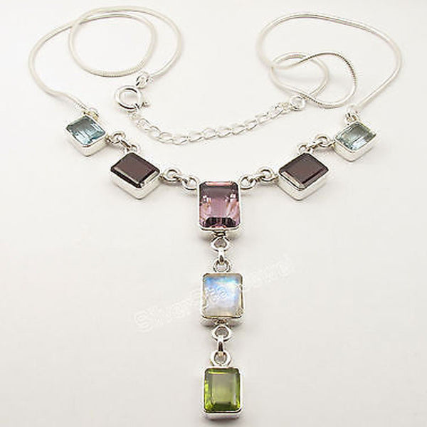 Jewelry: City/Urban-Pure Silver MULTI Gem Necklace