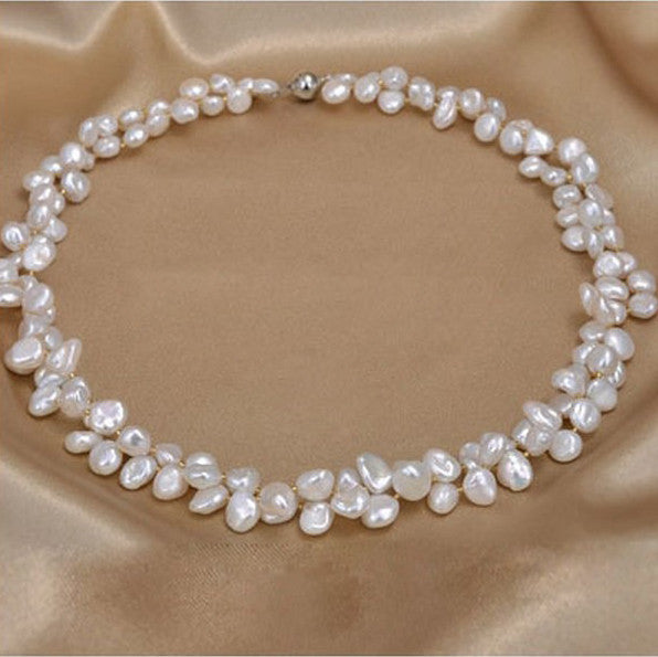 Jewelry: Coastal/Cottage- Real Freshwater Pearl Necklace