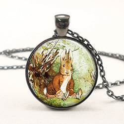 Jewelry: Farmhouse-Traditional Bunny Pendant