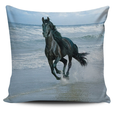 Horse in the Water Pillow Cover
