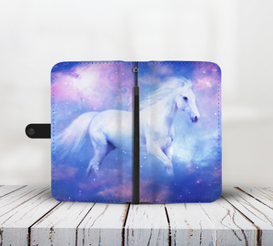 White Horse Wallet Phone Case