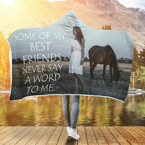Horse Best Friend Hooded Blanket