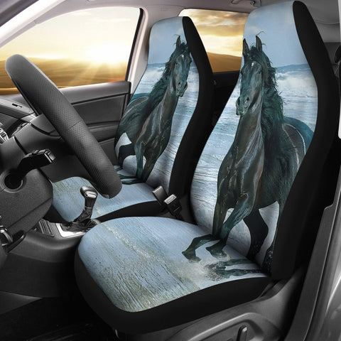 Horse in the Water Car Seat Covers