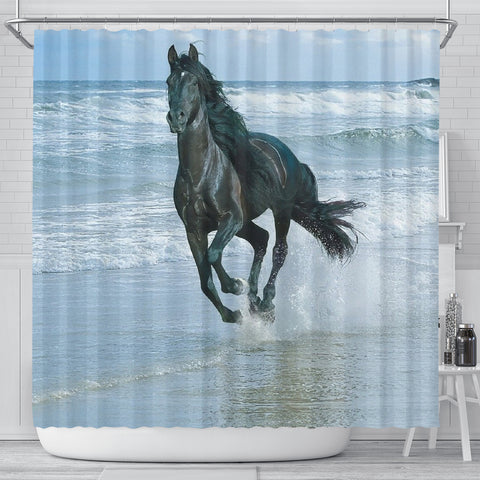Horse in the Sea Shower Curtain