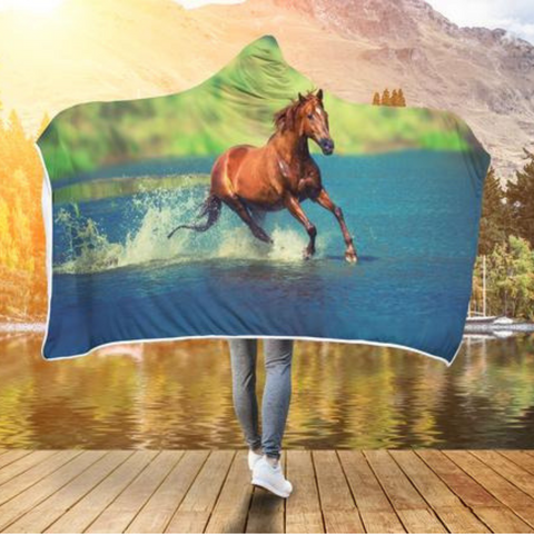 Running on Water Hooded Blanket