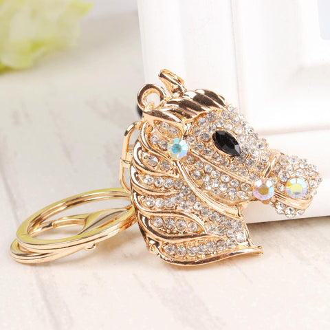 Pretty Rhinestone Horse Key-Chain
