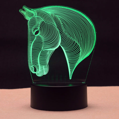 Horse Head 3D LED Light