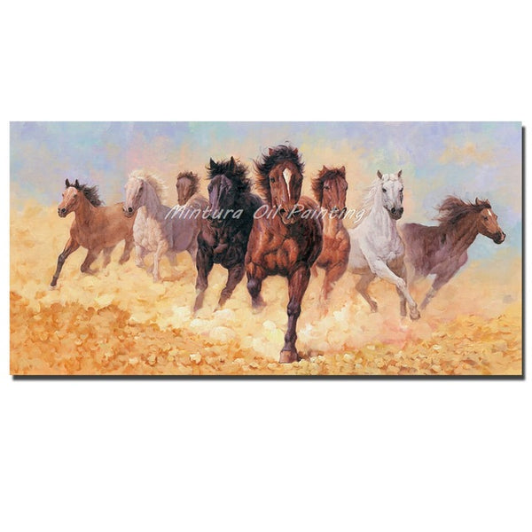 8 Running Horses Canvas