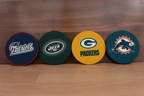 Assorted Drink Coasters on table
