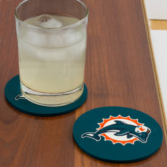 Miami Dolphins Coasters with drink