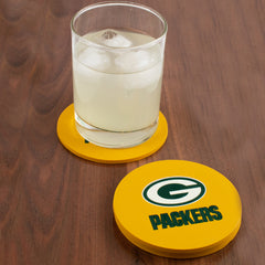 Drink coasters with glass