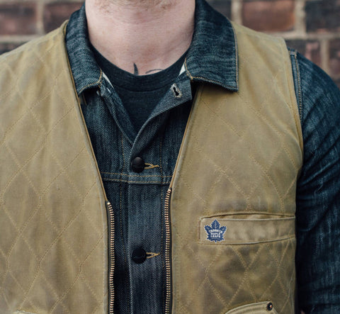 Maple Leafs Pin on Vest