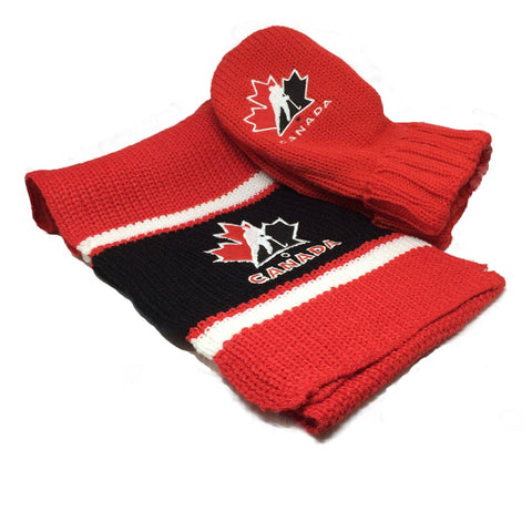 Teram Canada Scarf and Mittens Combo