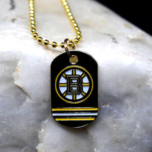 Load image into Gallery viewer, Boston Bruins Dog Tag Necklace
