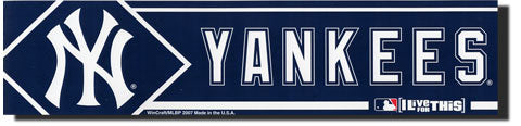 New York Yankees Bumper Sticker