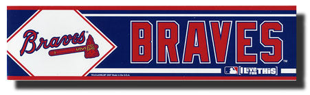 Atlanta Braves Bumper Sticker