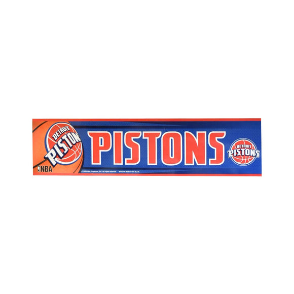 Detroit Pistons Bumper Sticker