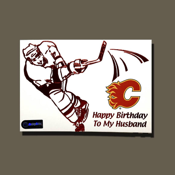 Calgary Flames Birthday Card