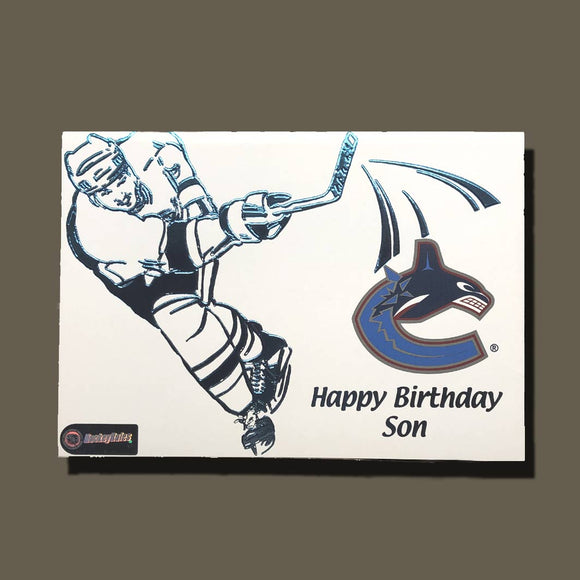 Vancouver Canucks Birthday Card