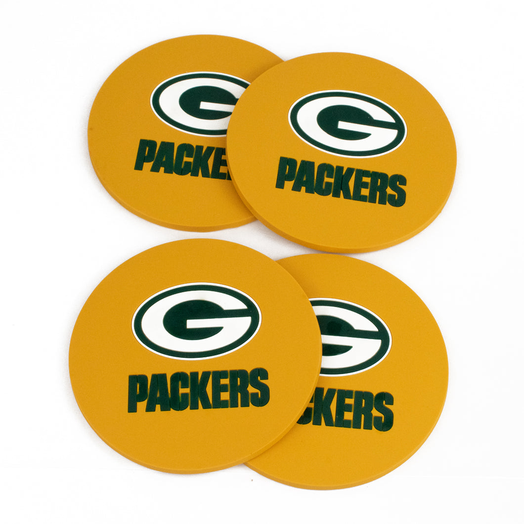 4 Packer Green Bay packers Drink Coasters